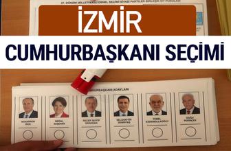 İzmir Cumhurbaşkanları oy oranları YSK Sandık sonuçları