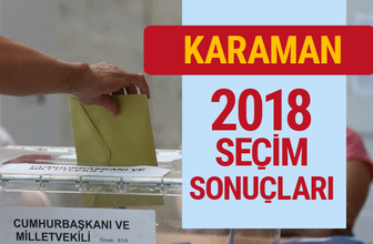 Karaman seçim 2018 sonuçları Karaman genel seçim oyları