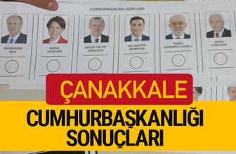 Çanakkale Cumhurbaşkanlığı seçim sonucu 2018 Çanakkale sonuçları