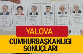 Yalova Cumhurbaşkanlığı seçim sonucu 2018 Yalova sonuçları