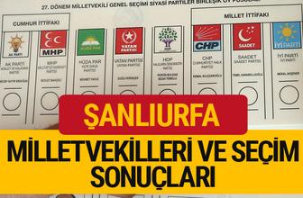 2018 Şanlıurfa Seçim Sonucu  27. dönem Şanlıurfa Milletvekilleri