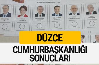 Düzce Cumhurbaşkanlığı seçim sonucu 2018 Düzce sonuçları