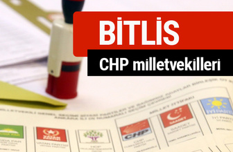 CHP Bitlis Milletvekilleri 2018 - 27. dönem Bitlis listesi