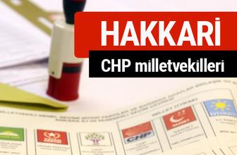 CHP Hakkari Milletvekilleri 2018 - 27. dönem Hakkari listesi