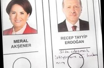 Seçim pusulasıyla Erdoğan'a not gönderdi