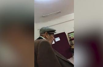 Oy kullanmaya giden Karadenizli amca kahkahaya boğdu