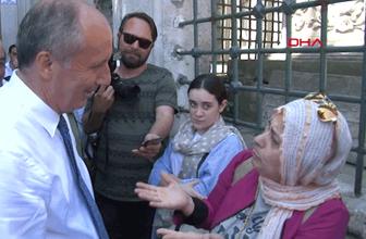Muharrem İnce Eyüp Sultan'da neye uğradığını şaşırdı!