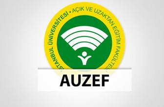 İstanbul Üniversitesi AUZEF sonucu final sınavı sorgulama ekranı