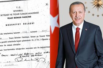 Erdoğan'ın diploması Recep Tayyip Erdoğan nereden mezun?