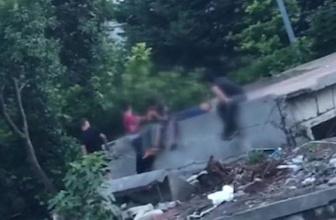 İstanbul'un göbeğinde kahreden görüntü!