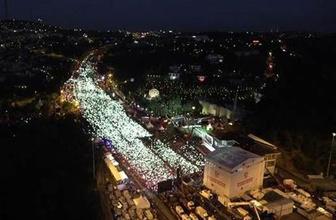 15 Temmuz anmasına yüzbinler akın etti Erdoğan : 'İftihar ediyorum'