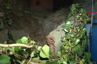 Beykoz'da bahçe duvarı çöktü: 1 ölü, 1 yaralı