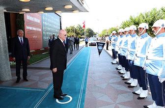 TBMM Başkanı Kahraman'dan Başkan Uysal'a veda ziyareti