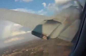 Korku dolu anlar! Uçağın düşme anı böyle kaydedildi