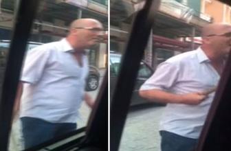 Uber sürücüsüne sopayla saldırdı! Korku dolu anlar