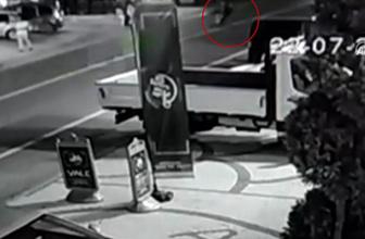 Can Gürzap'ın kaza anı güvenlik kamerasında!