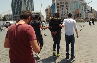 Taksim Meydanı'nda hareketli dakikalar
