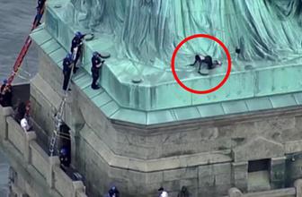 Trump, New York'taki özgürlük heykelinde protesto edildi