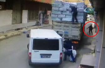 Kamyonun sürücüsü baretli hırsızlara böyle suçüstü yaptı!