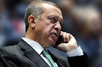 Cumhurbaşkanı Erdoğan'dan sürpriz telefon görüşmesi!