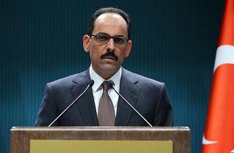Cumhurbaşkanlığı Sözcüsü İbrahim Kalın'dan açıklama
