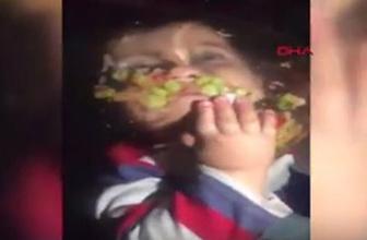 Küçük çocuğun görüntüleri rekor kırdı
