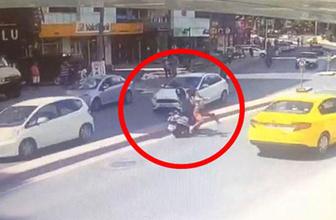 Kadına çarpıp kafasını kırdı arkasına bile bakmadan kaçtı
