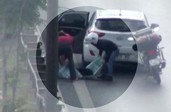 Çarpan sürücü kaçtı, arkadan gelen sürücü ise yardım etti