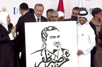 Kongre sonrası Erdoğan'a anlamlı hediye