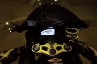 Motosikletli maganda ölüme böyle davetiye çıkardı!