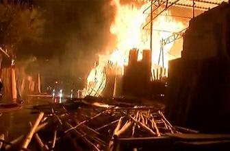 Şanlıurfa'da Oduncular Pazarı'ndan yangın