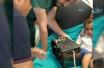 3 yaşındaki çocuğun eli kıyma makinesine sıkıştı