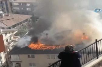 Başkent'te korkutan yangın: 4 kişi dumandan etkilendi