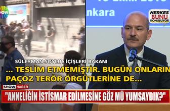 Süleyman Soylu cumartesi annelerine 'paçoz' dedi mi?