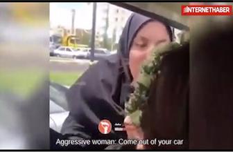 İranlı kadın başörtüsü takmayan hemcinsine saldırdı!