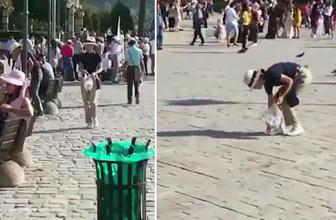 Japon turistlerden İzmir'de örnek davranış
