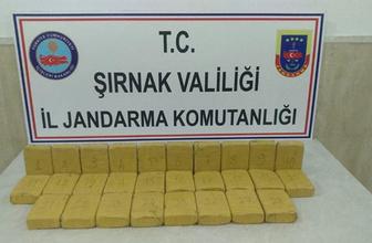 Şırnak'ta çok miktarda eroin maddesi ele geçirildi!