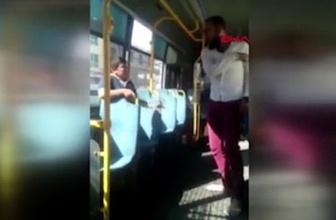 Simit satan çocuğu halk otobüsünde kemerle dövdü!