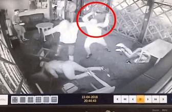 Barda feci kavga! Sandalye kafasında parçalandı