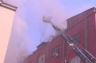 Zeytinburnu'nda deri fabrikasında yangın