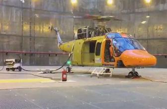 Türkiye için bir ilk: O helikopter motor çalıştırdı!