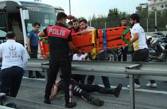 Çağlayan'da polis ekipleri kaza yaptı! Çok sayıda ambulans olay yerinde