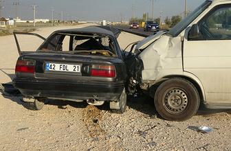 Konya'da feci kaza: Ölü ve yaralılar var!