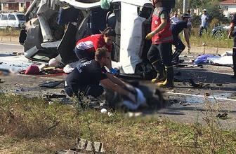 Sakarya'da katliam gibi kaza: Çok sayıda ölü var!