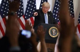 Trump'ın basın toplantısına 'Bay Kürt' ve 'Suudi Kralı Süleyman' damga vurdu