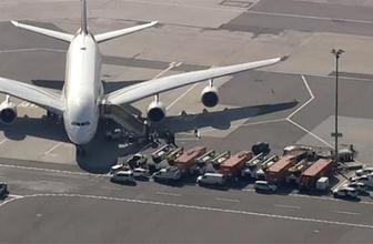 Havalimanında panik: Uçak yolcularla birlikte karantinaya alındı!