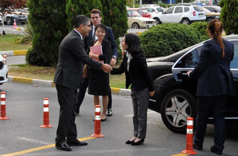 Japonya Prensesi Mikasa Ankara'ya gitti