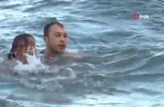 Denize düşen hemşireyi, dalış timi komutanı kurtardı