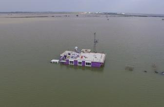 Göle dönen Amik Ovası drone ile görüntülendi