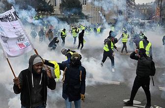 Paris'te sarı yeleklilere müdahale